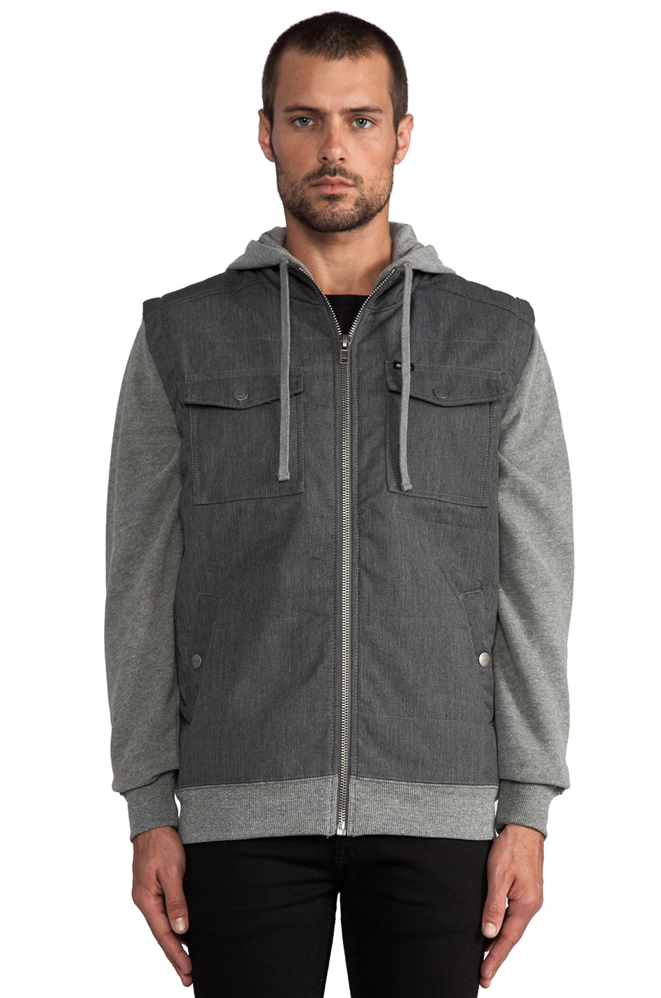 RVCA Puffer Twill in Dark Charcoal