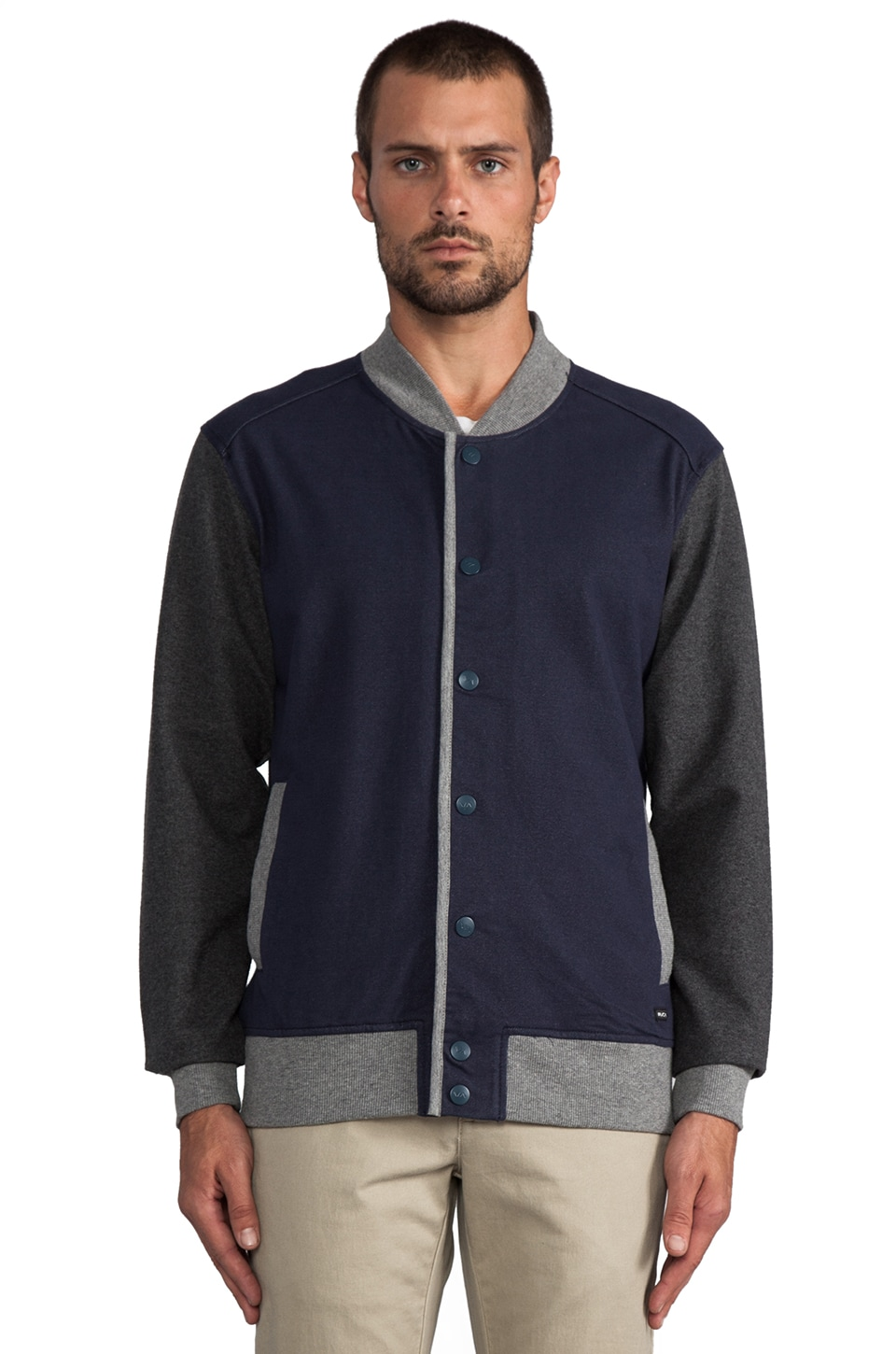 RVCA Hatcher Fleece in Midnight