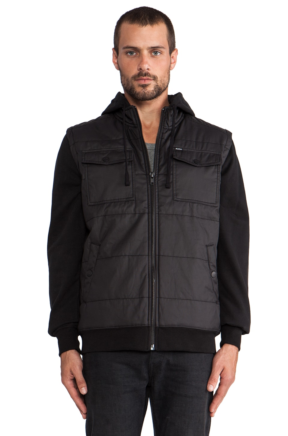 RVCA Puffer Alcatraz in Black