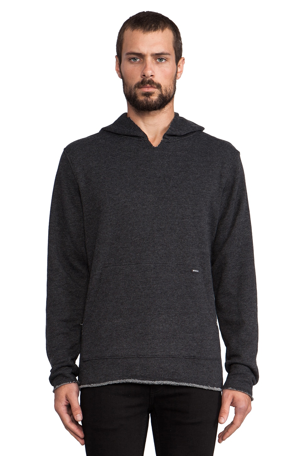 RVCA Dobo Pullover in Black Heather
