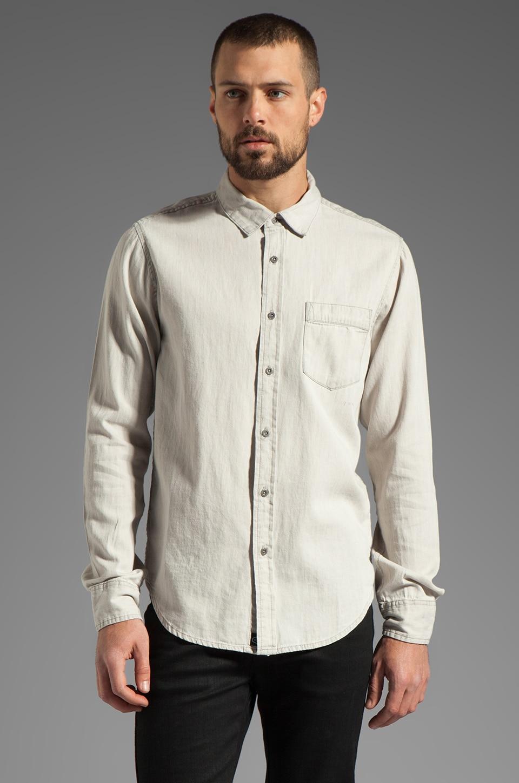 RVCA Bleach L/S Shirt in Natural