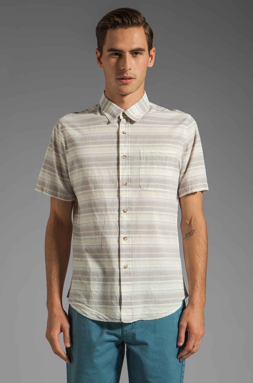 RVCA Raya S/S Shirt in Haze