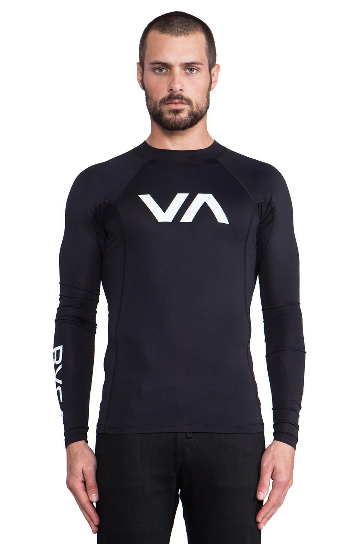 RVCA VA Rashgaurd in Black