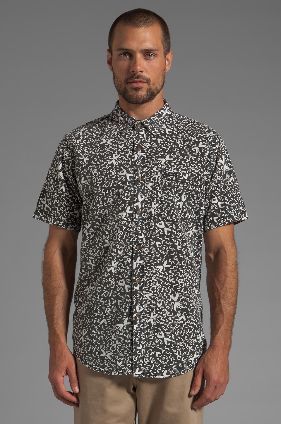 RVCA Shakes Short Sleeve Shirt in Black