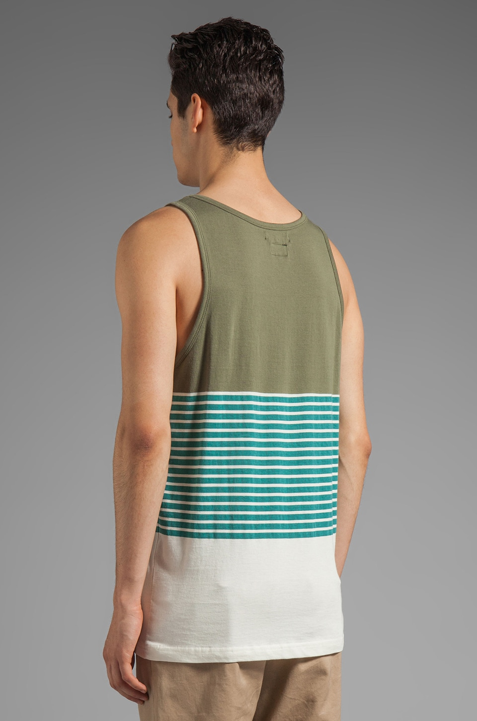 RVCA Layer Tank in Green Moss