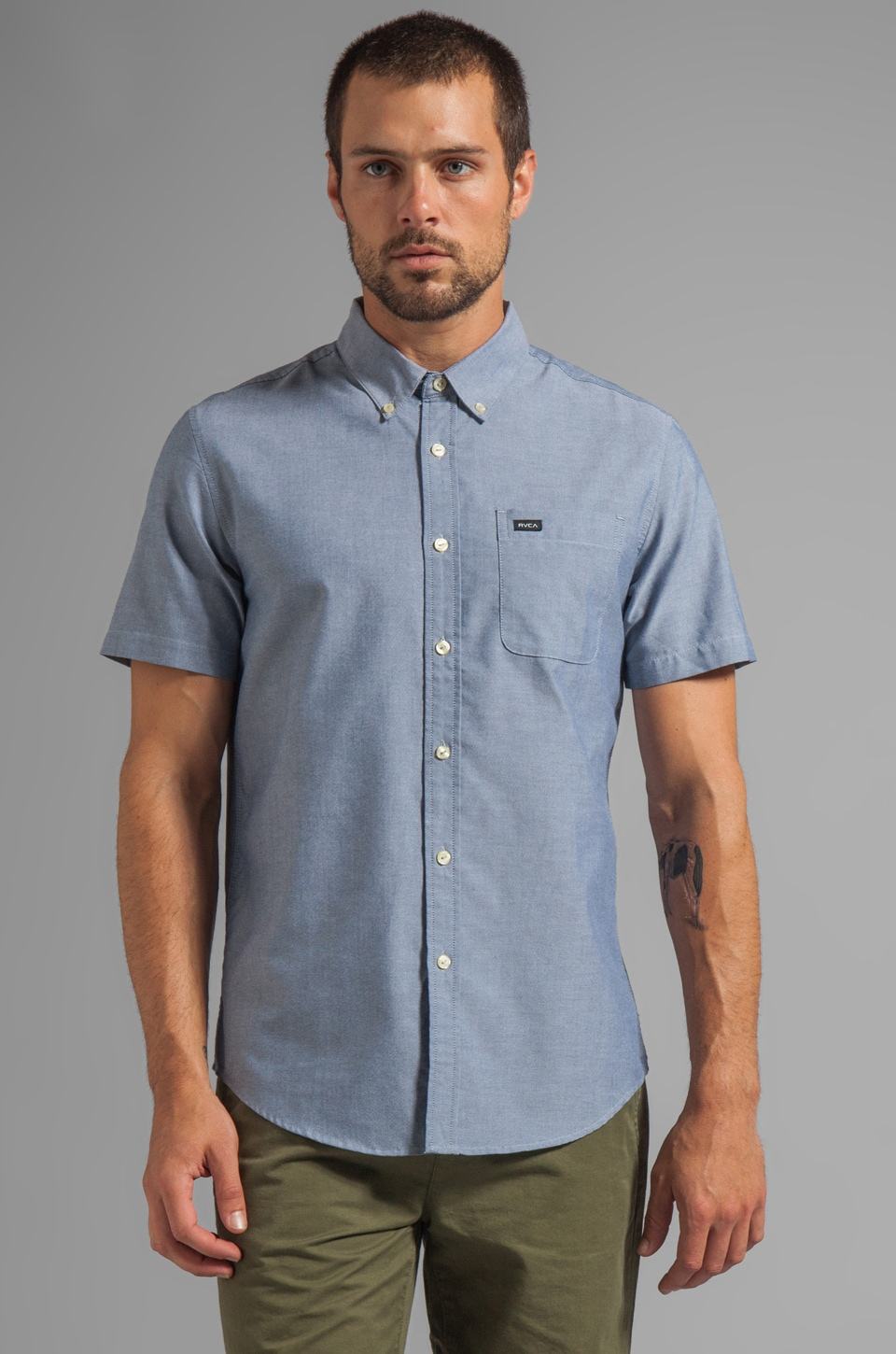 RVCA That'll Do Oxford S/S in Distant Blue