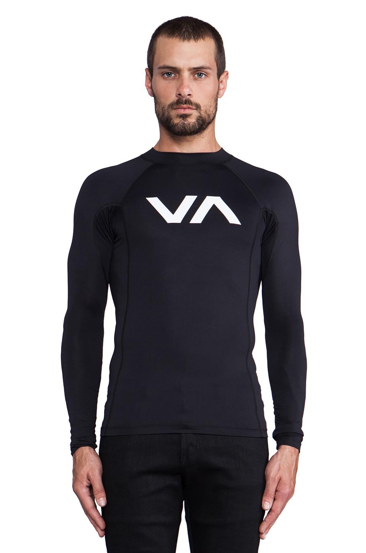 RVCA VA Sport VA Rashguard in Black