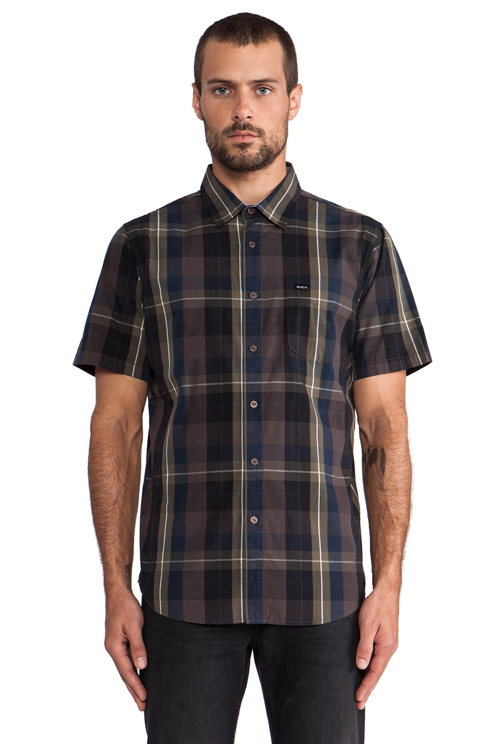 RVCA Coastline Short Sleeve in Black