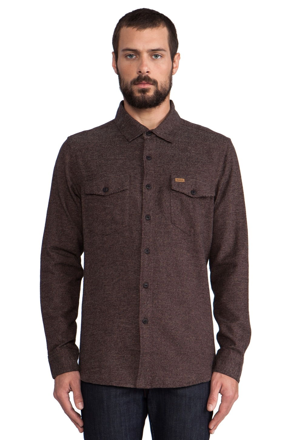RVCA Cragg Flannel in Black