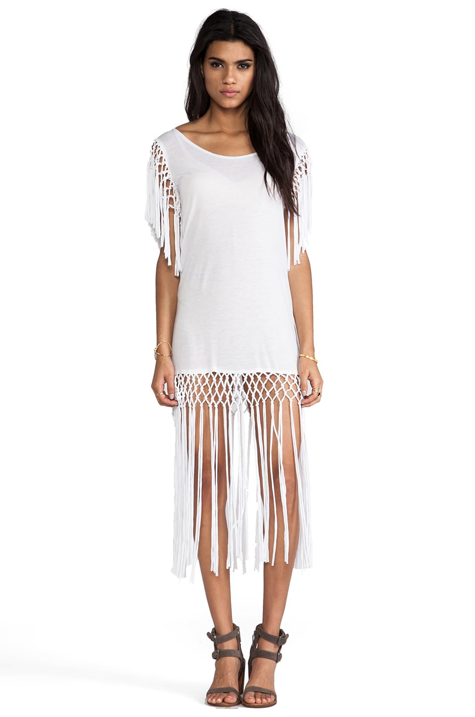 RVCA Wanderlush Coverup in Vintage White