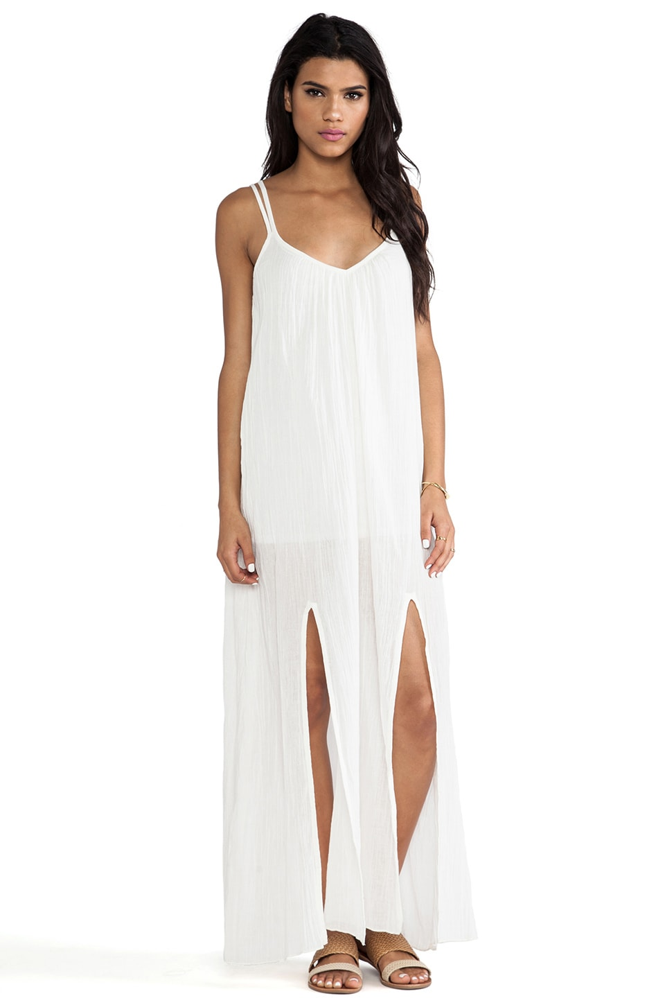 RVCA Drift On Maxi Dress in Vintage White