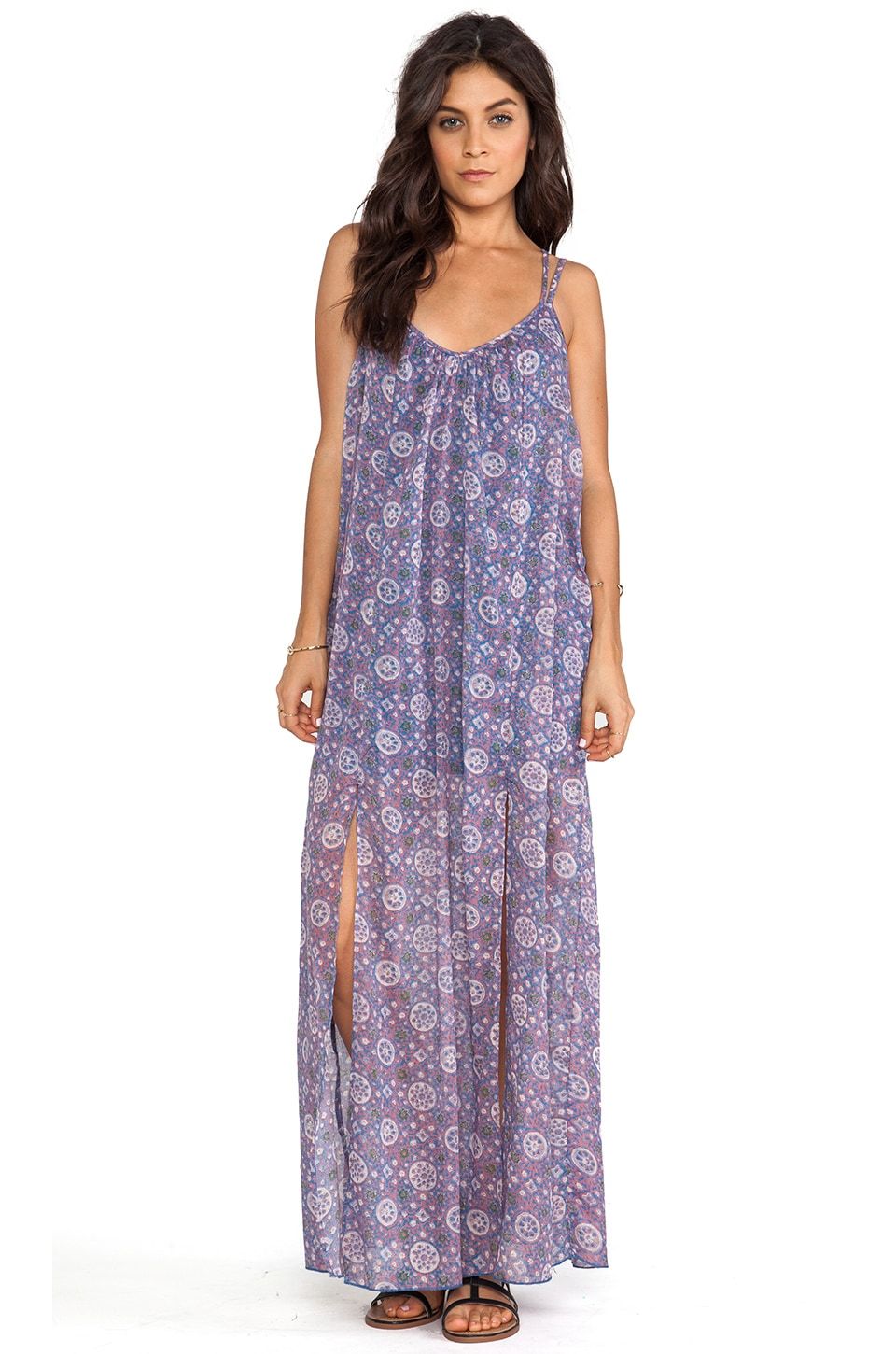 RVCA Drift On Maxi Dress in Deep Water