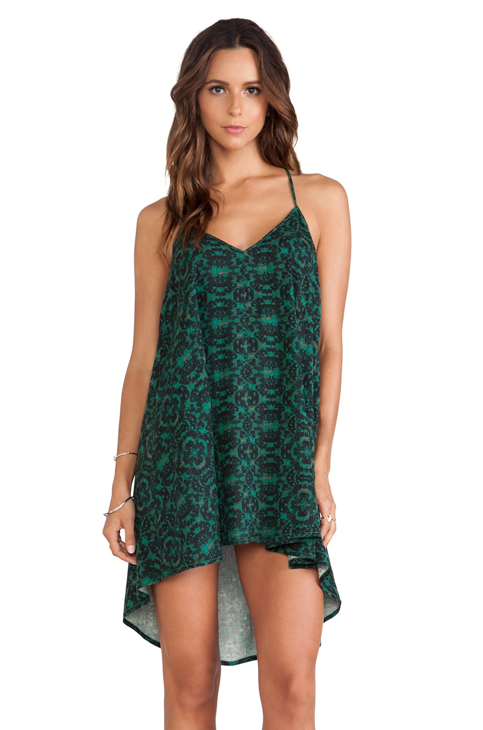RVCA Marigold Dress in Deep Jungle