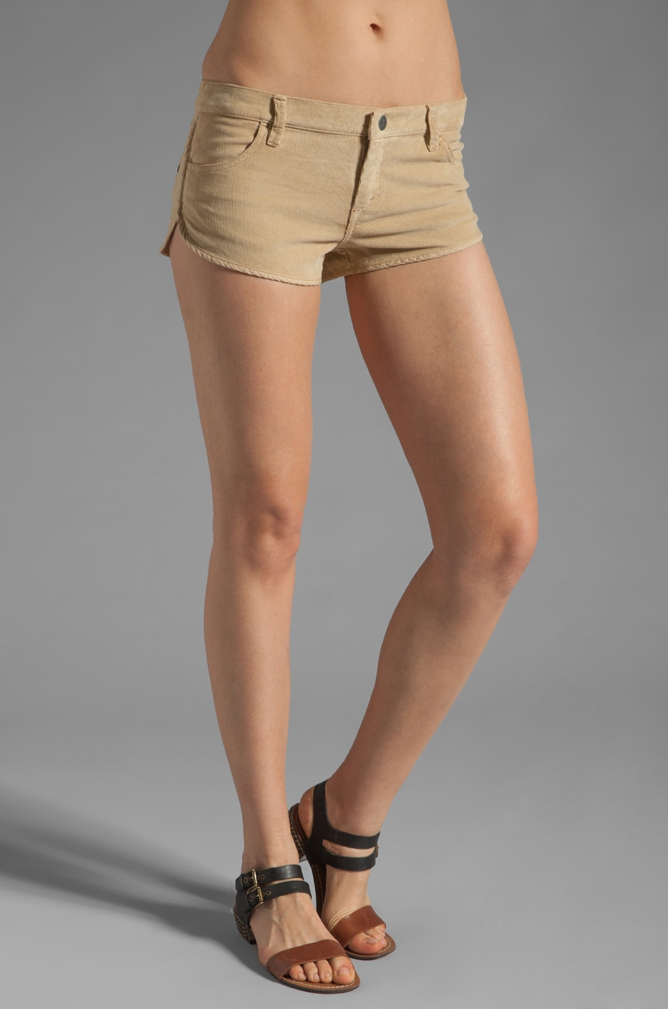 RVCA Street Scene Corduroy Short in Tan