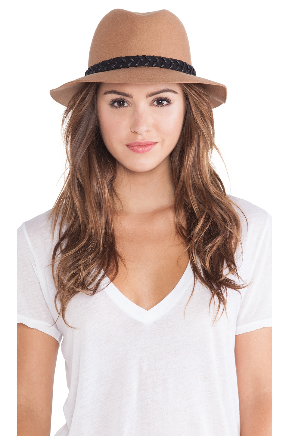 RVCA Rosy Fruits Fedora in Tan