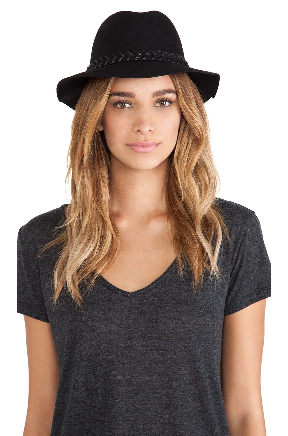 RVCA Rosy Fruits Fedora in Black