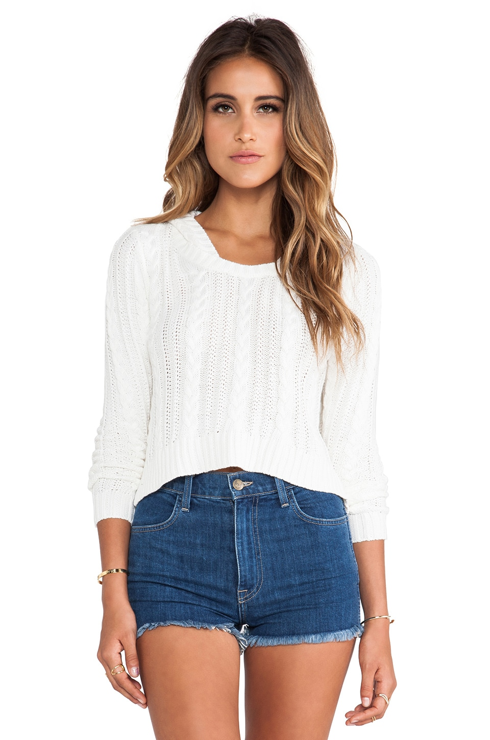 RVCA Open Path Sweater in Eggshell