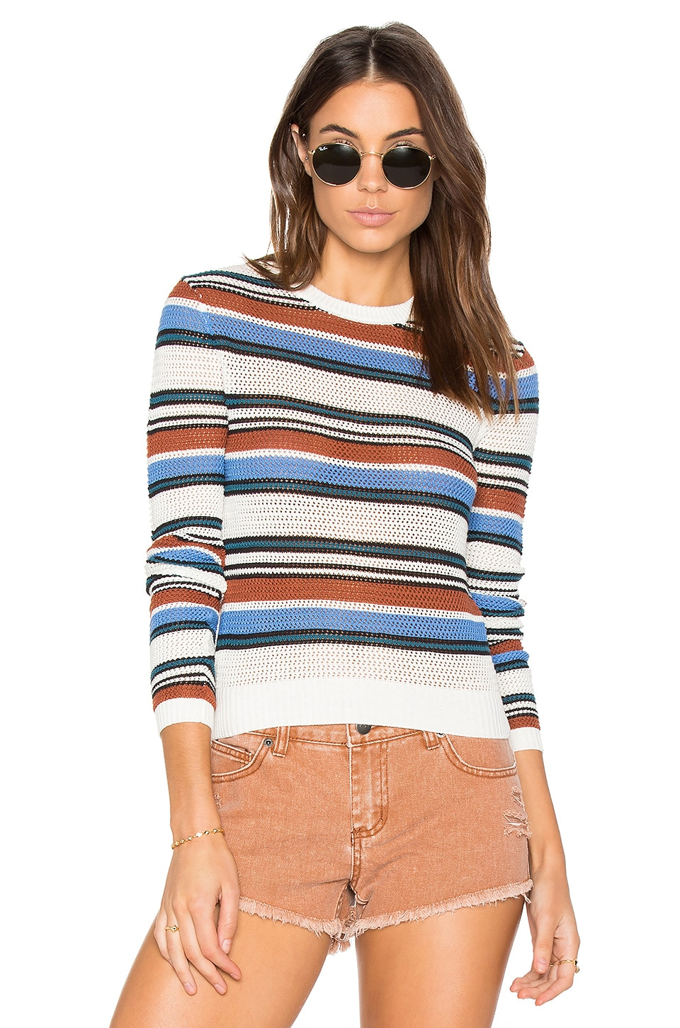 RVCA Polly Cropped Sweater in Multi