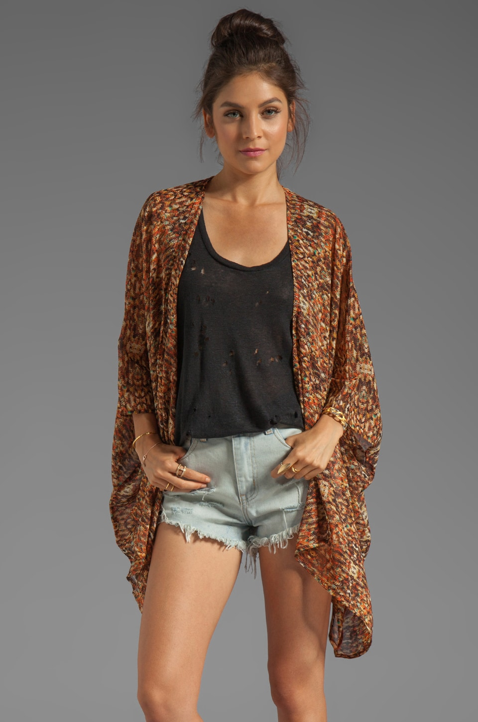 RVCA McMurphy Printed Cover-Up in Blood Orange