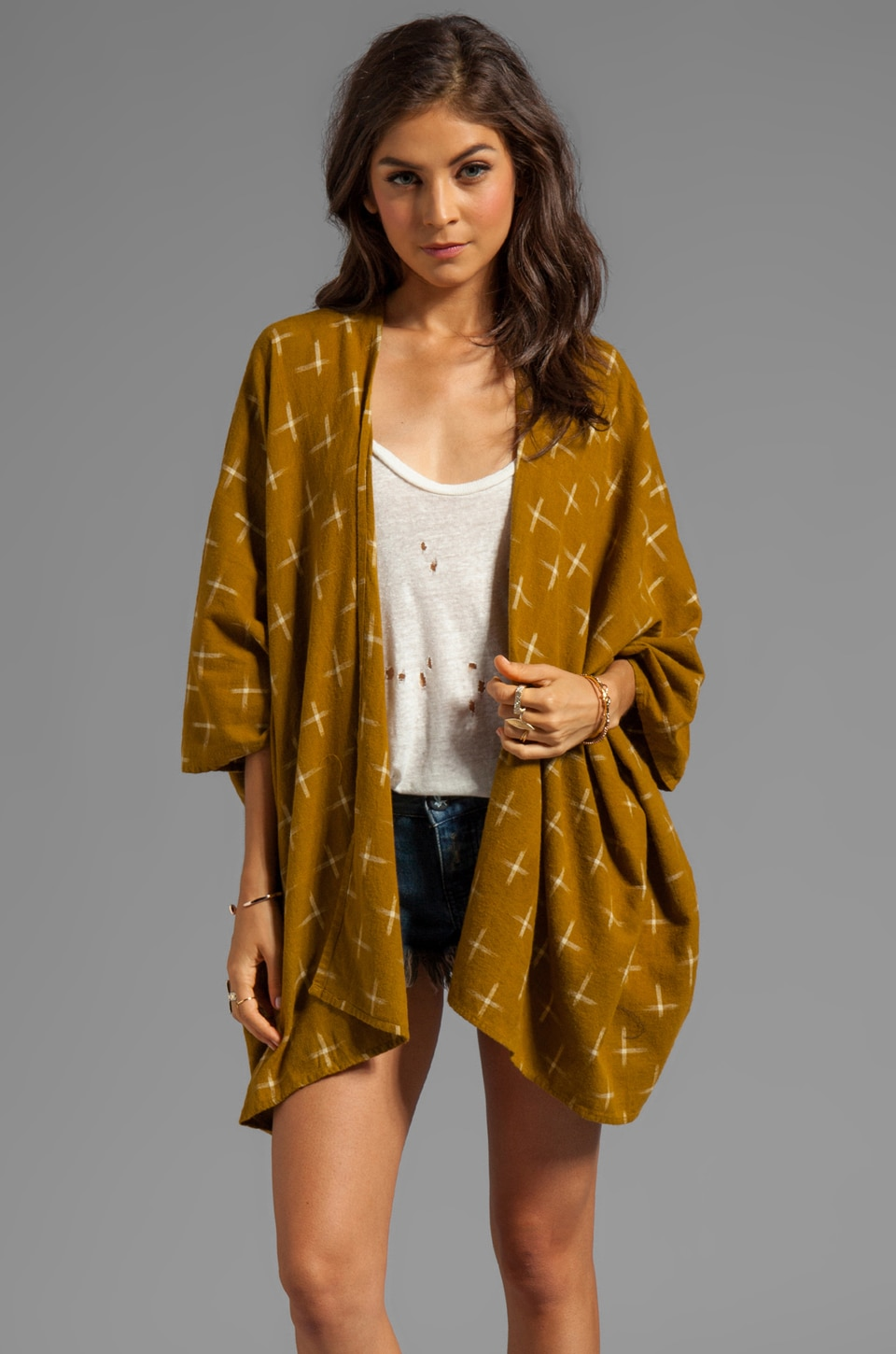 RVCA McMurphy Printed Cover-Up in Bronze