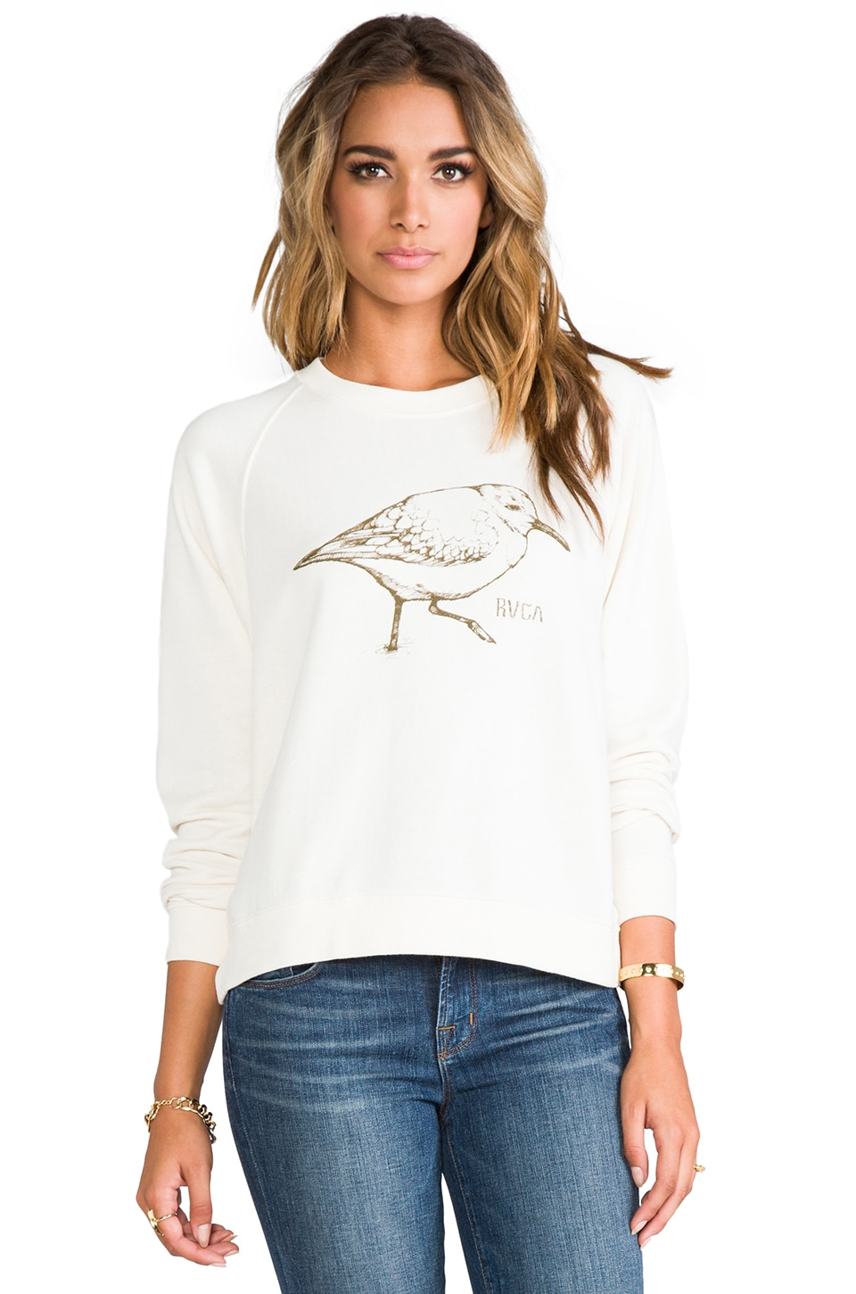 RVCA Sanderling Sweatshirt en Naturel