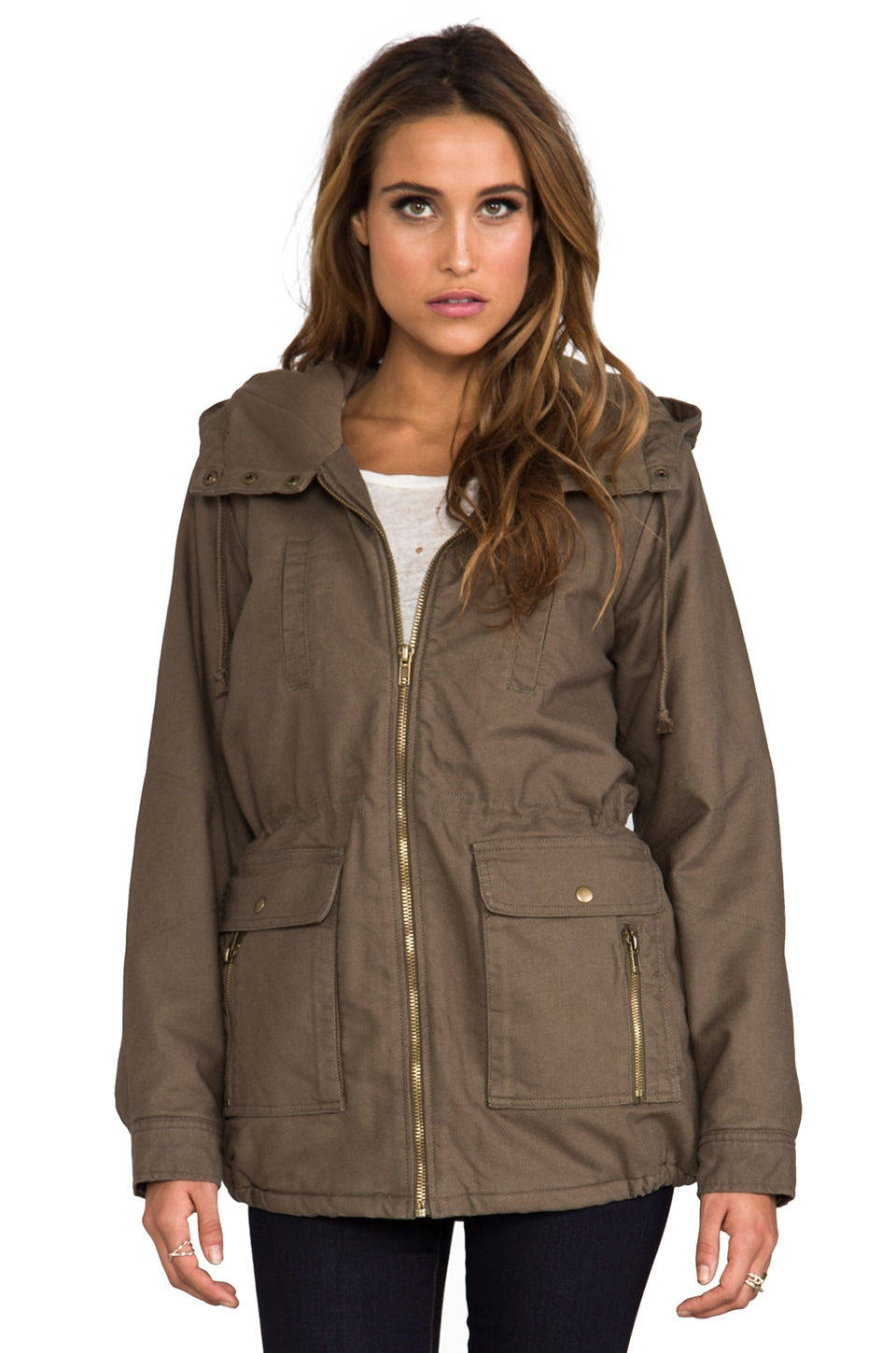 RVCA Camp Out Jacket in Military Green
