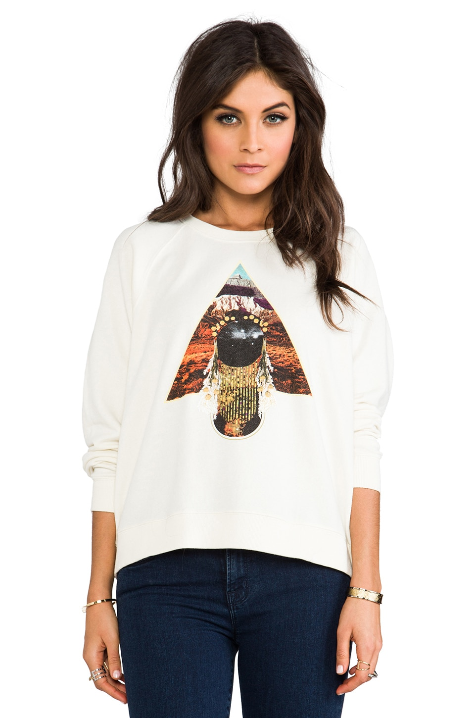 RVCA Pine Mountains Sweatshirt in Natural