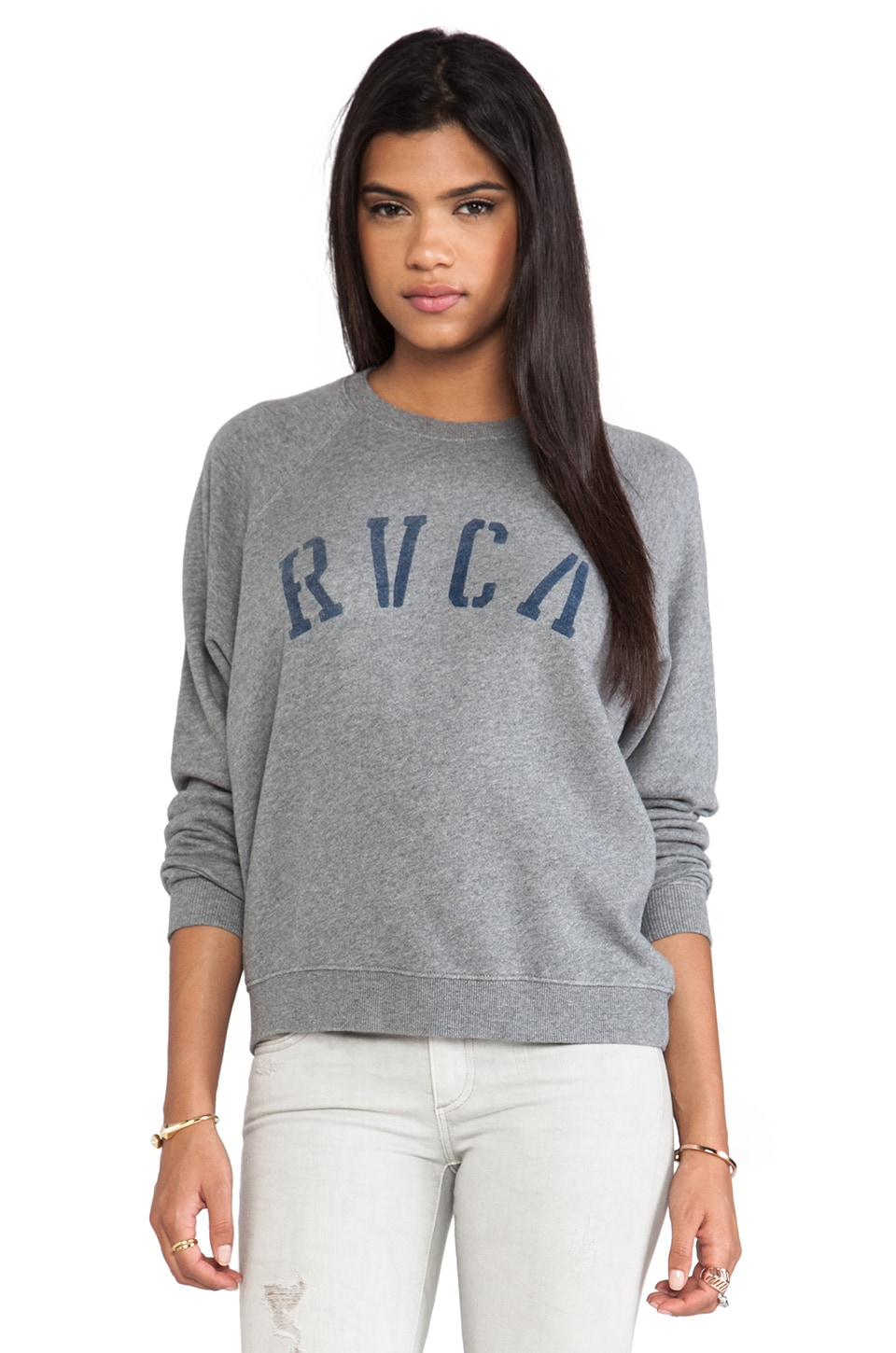 RVCA Department RVCA Sweatshirt in Gray Noise
