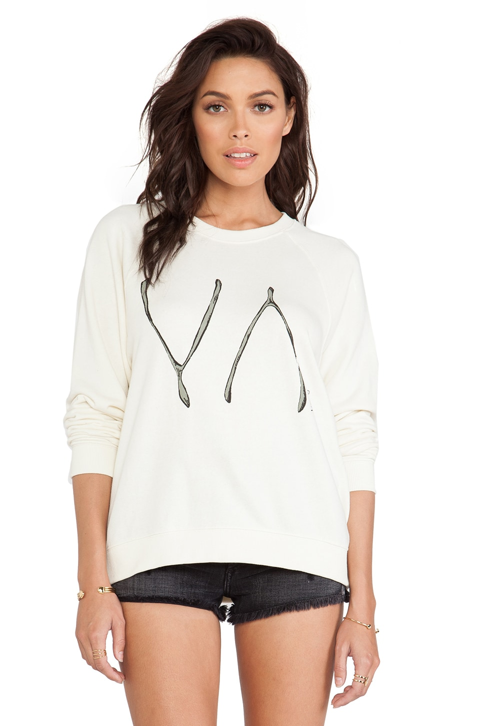 RVCA Wishbone Sweatshirt in Natural