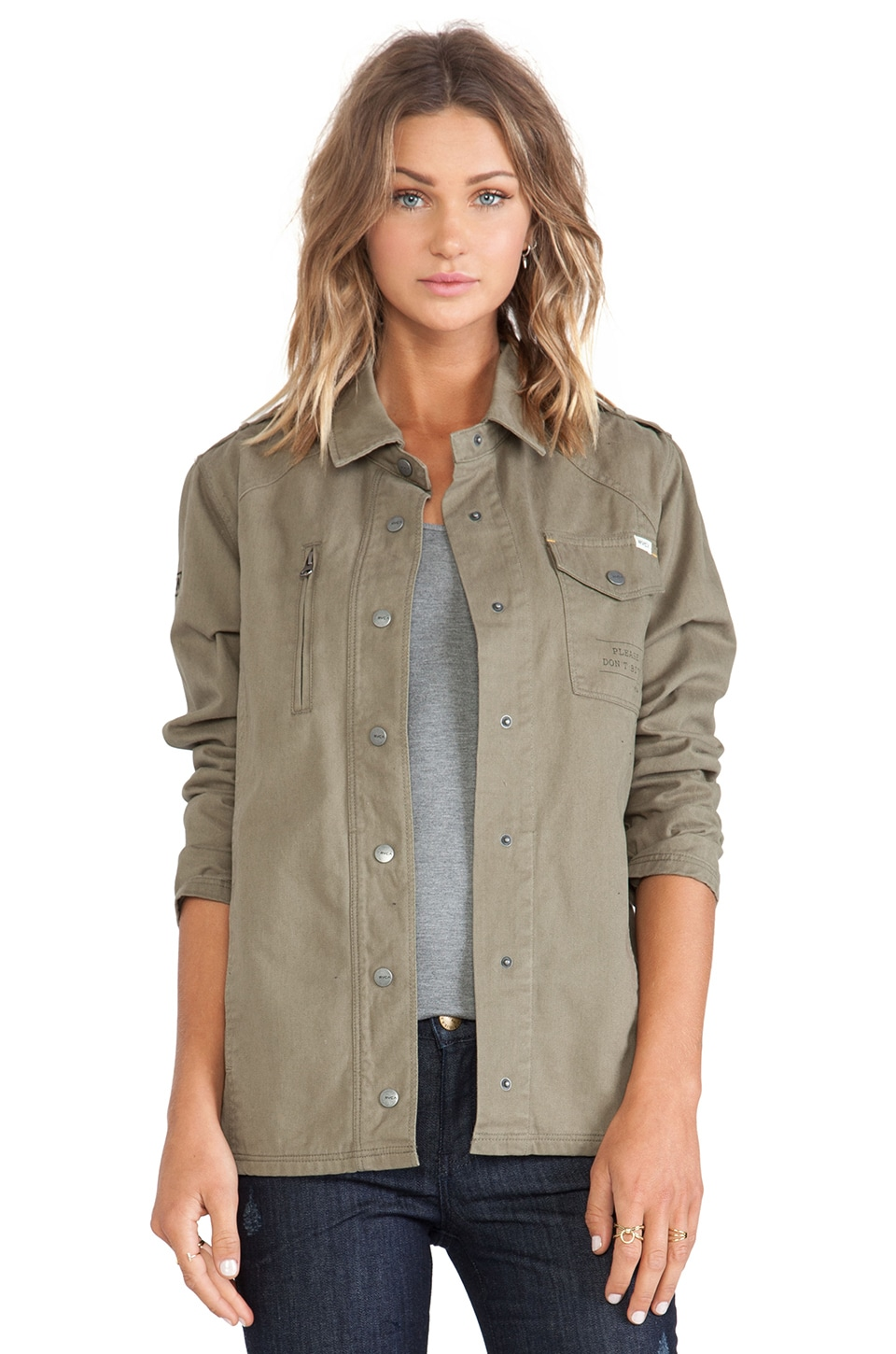 RVCA Global Stream Jacket in Dusty Olive