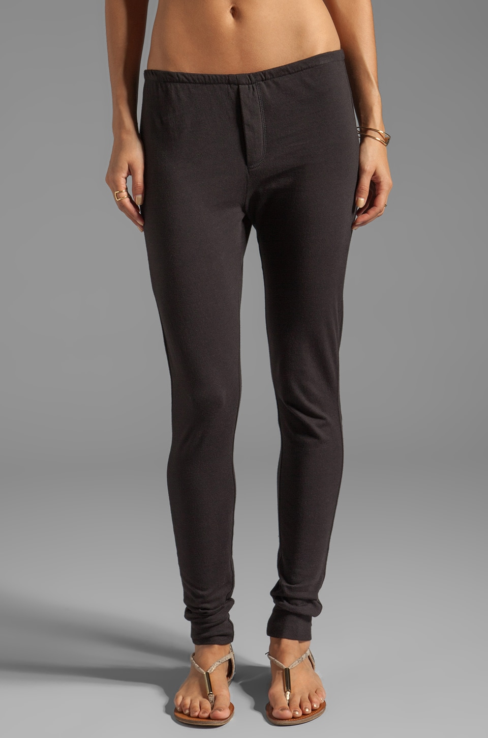 RVCA Sally Jersey Lounge Pant with Elastic Waistband in Black