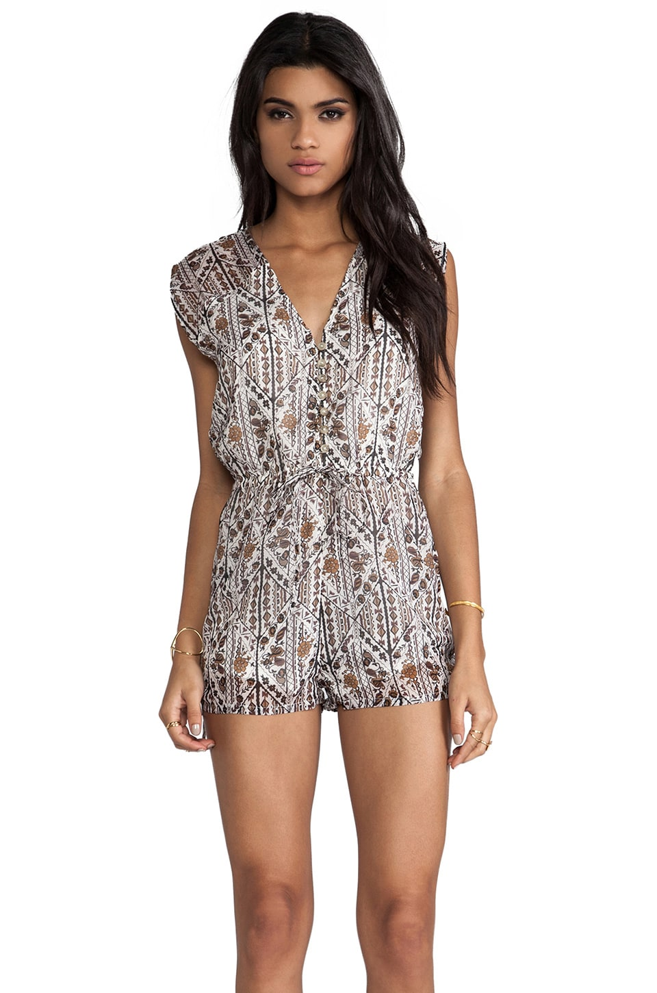 RVCA Golden Jubilee Romper in Cloud