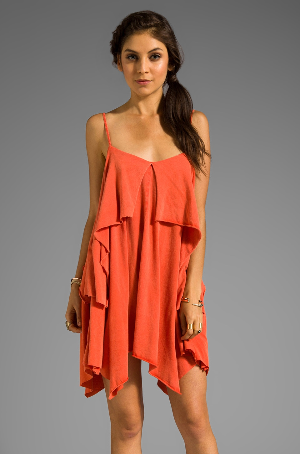 RVCA Katsina Tunic in Red Clay