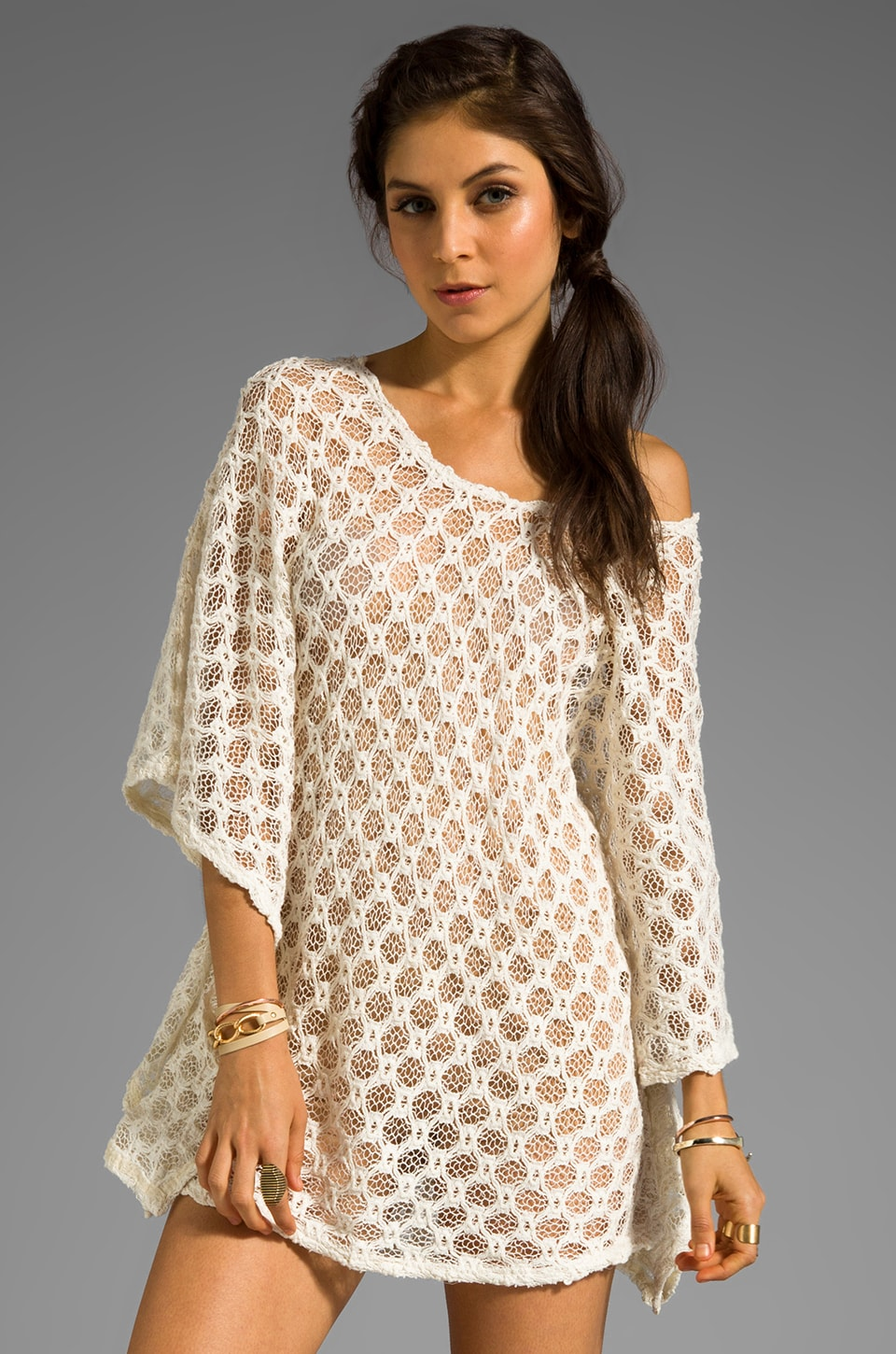 RVCA Ifni Tunic in Vintage White