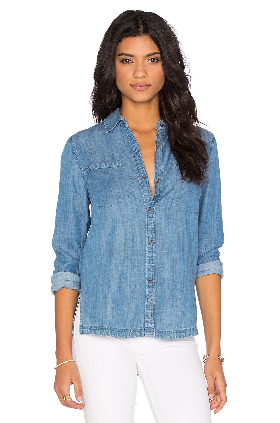 RVCA Trader 2 Button Up in Chambray