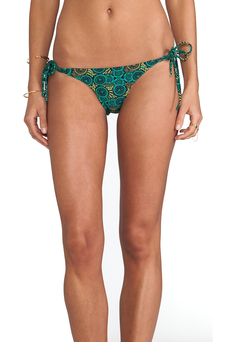 RVCA Reversible Velvet Bottom in Seagreen Print