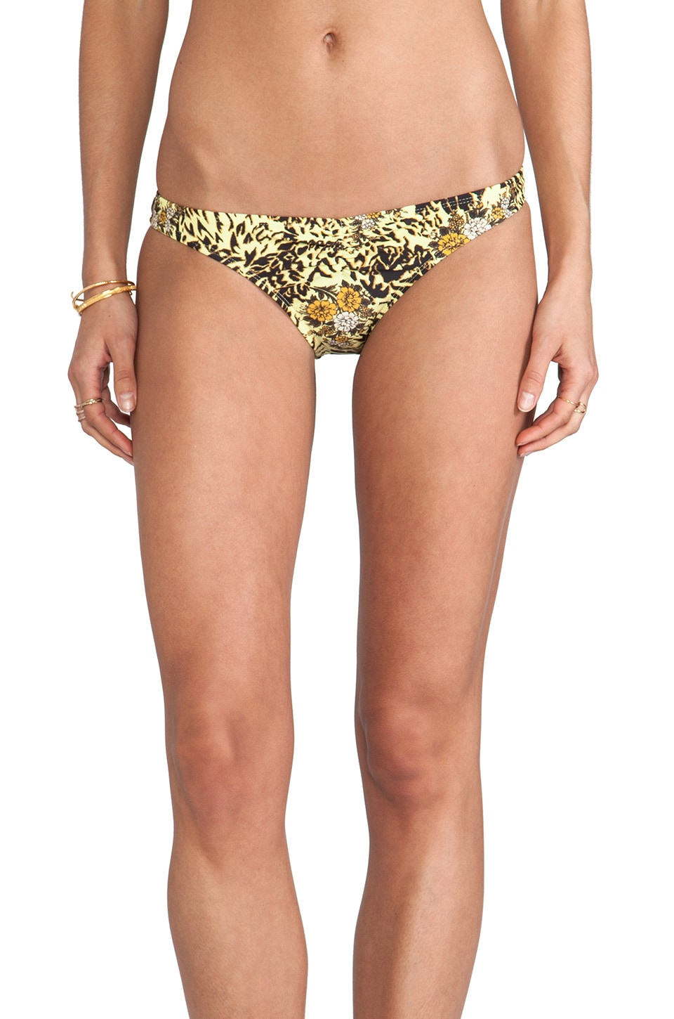 RVCA Punda Bottom in Lime Light Print