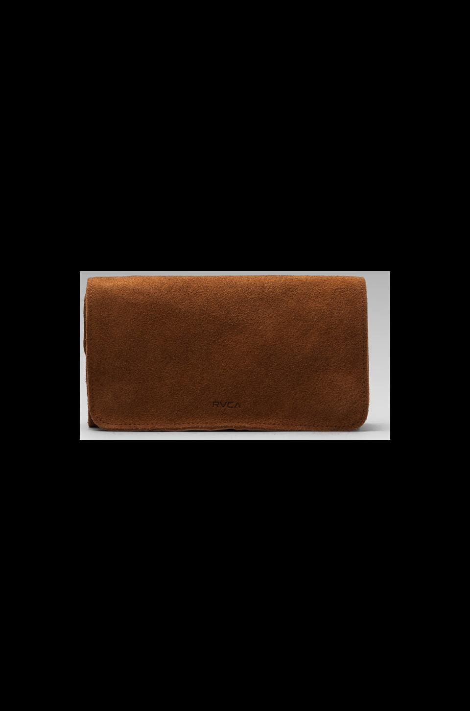 RVCA Ballesterros Suede Wallet in Tan
