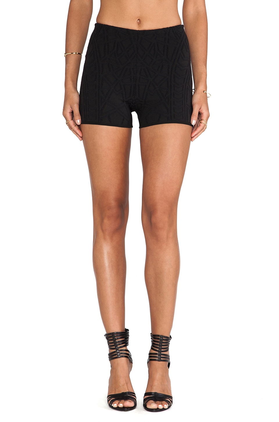 RVN Geo 3D Jacq Short in Black/Black