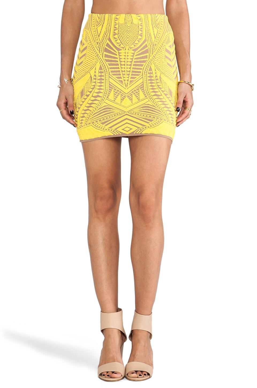 RVN Armor 3D Jacq Skirt in Sun Burst & Nude