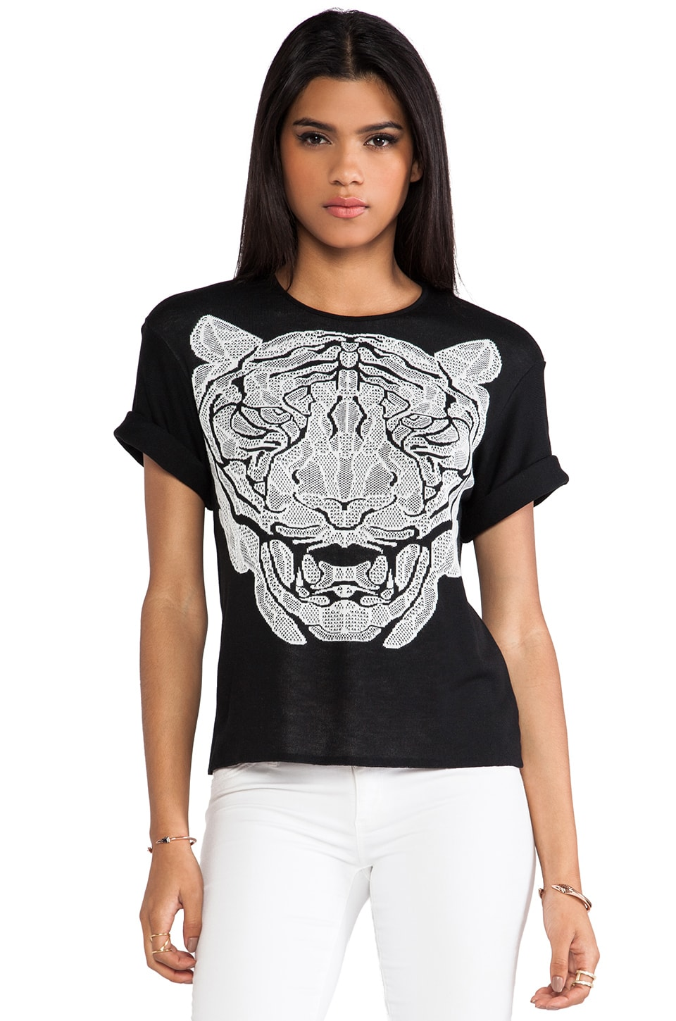RVN Bengal Face Top in Black & White