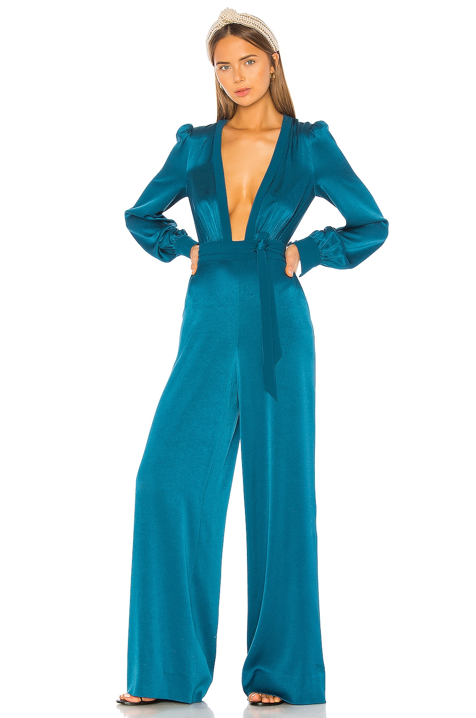 RACHEL ZOE Liona Jumpsuit in Evening Blue
