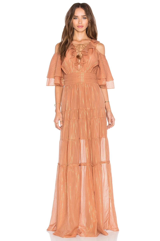 RACHEL ZOE Danielle Maxi Dress in Terracotta