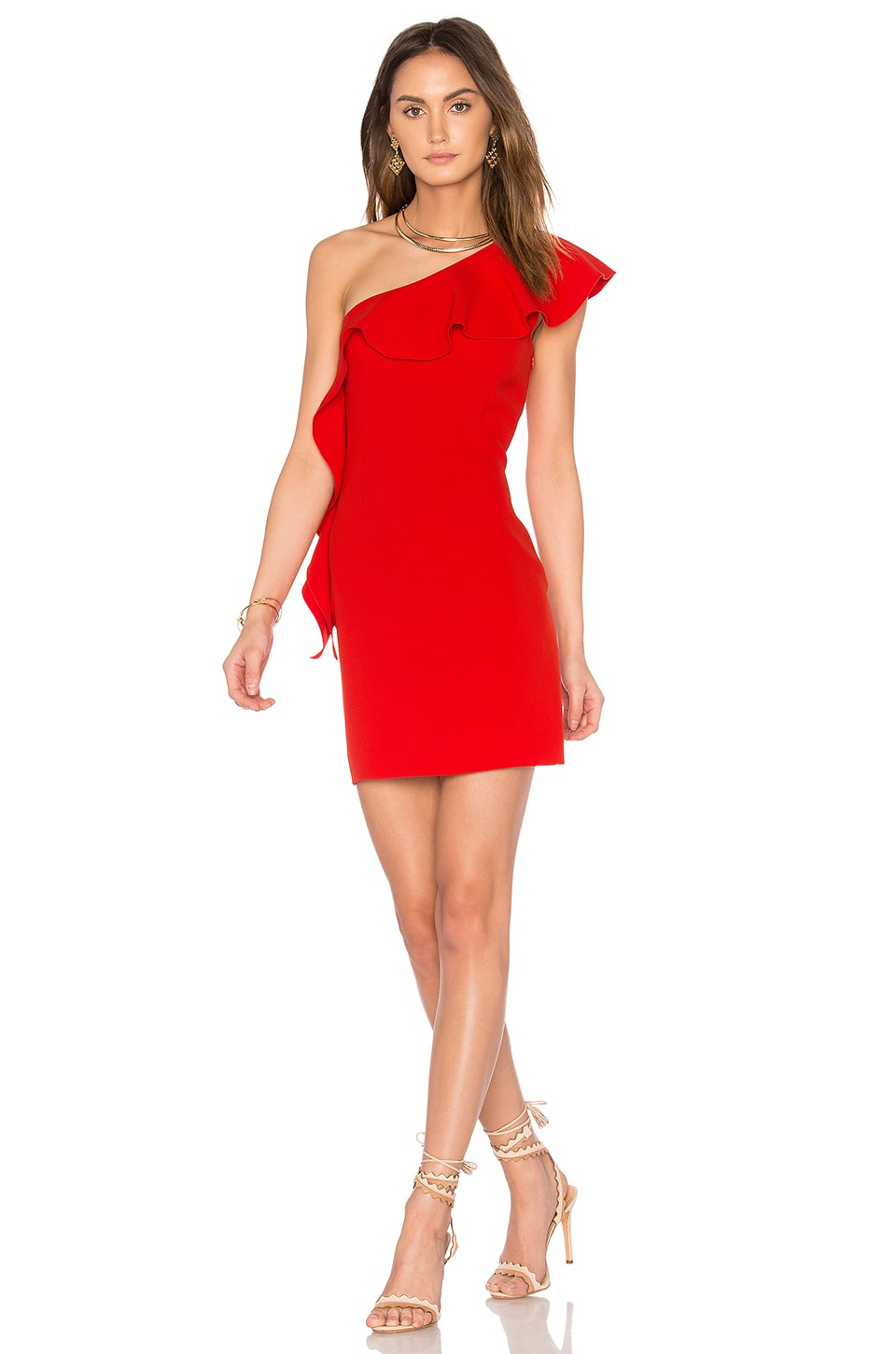 RACHEL ZOE Zoey Dress in Strawberry