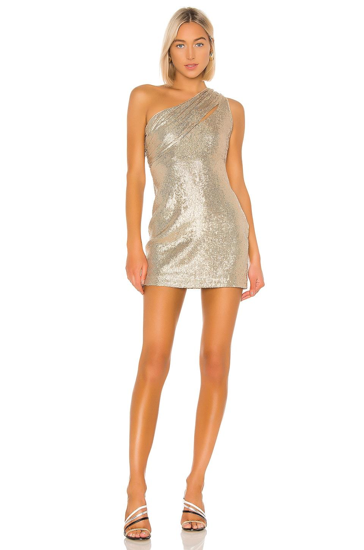 RACHEL ZOE Magda Dress in Light Gold