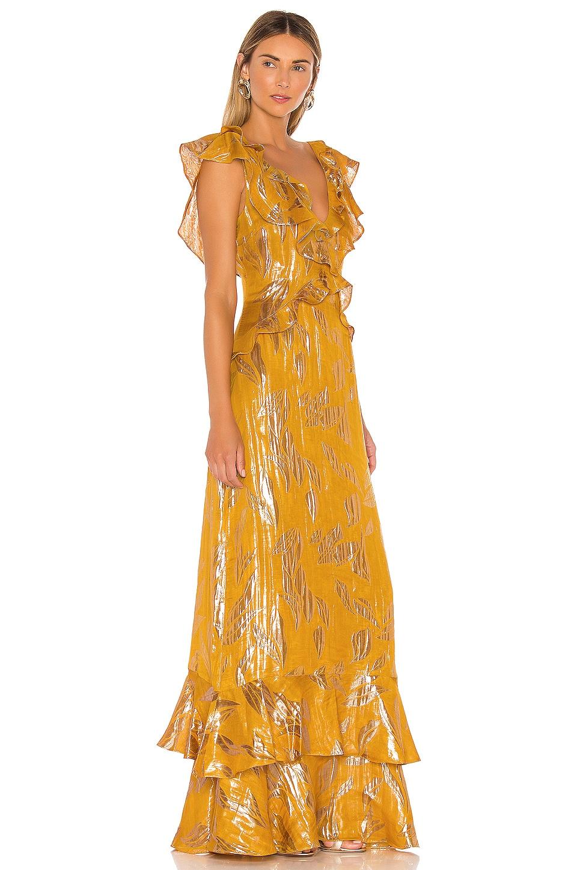 RACHEL ZOE Geovana Gown in Marigold