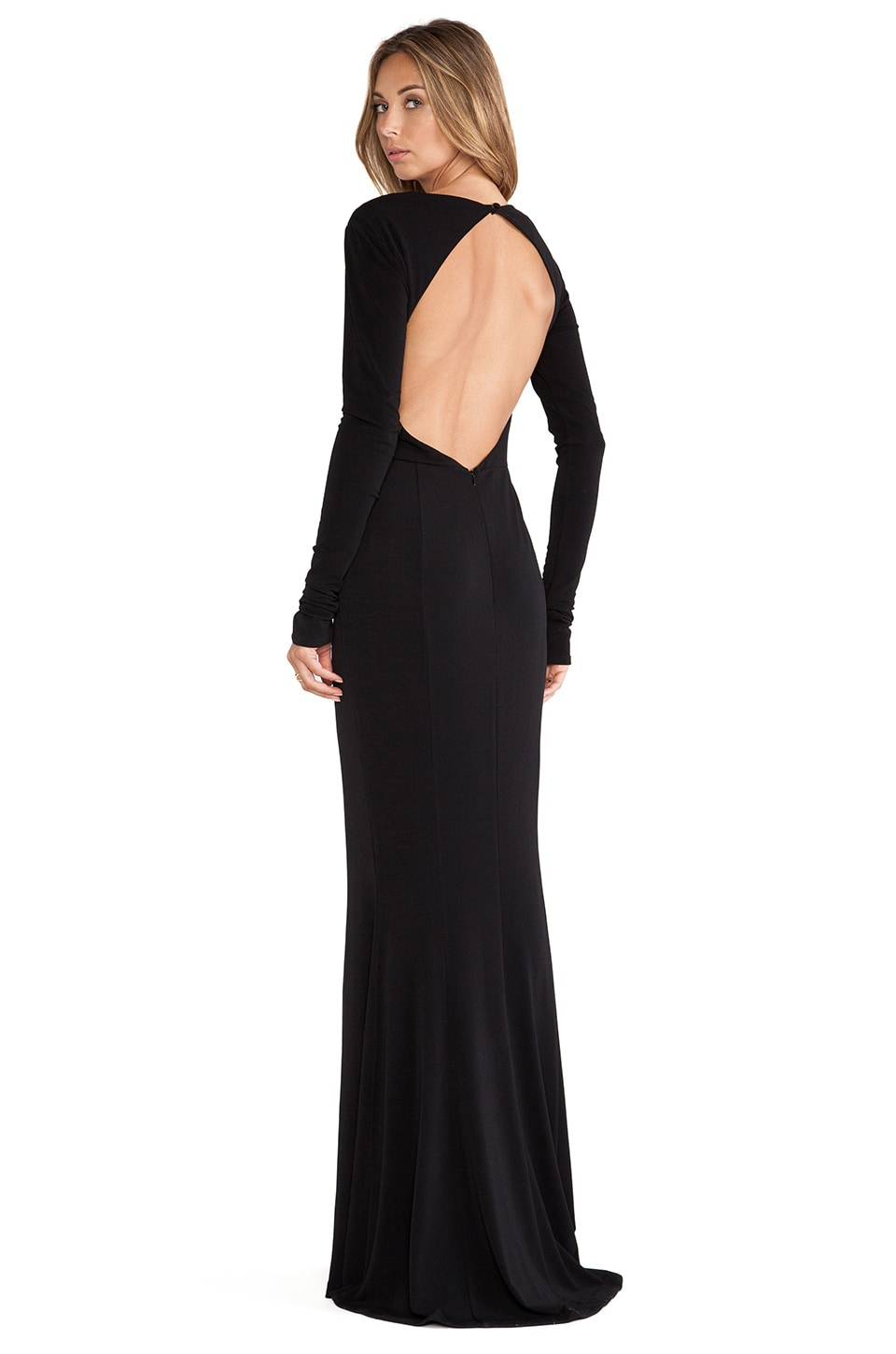 RACHEL ZOE Liana Open Back Maxi Dress in Black