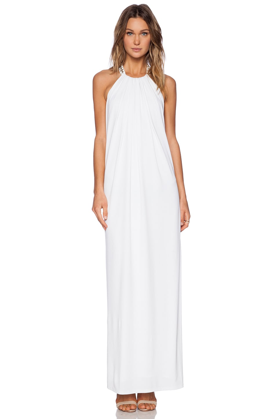Chain halter maxi dress