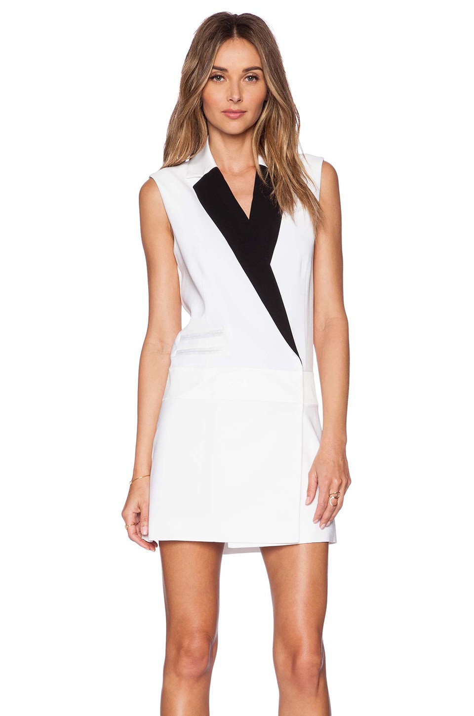 RACHEL ZOE Lusso Suit Dress in Pure White | REVOLVE
