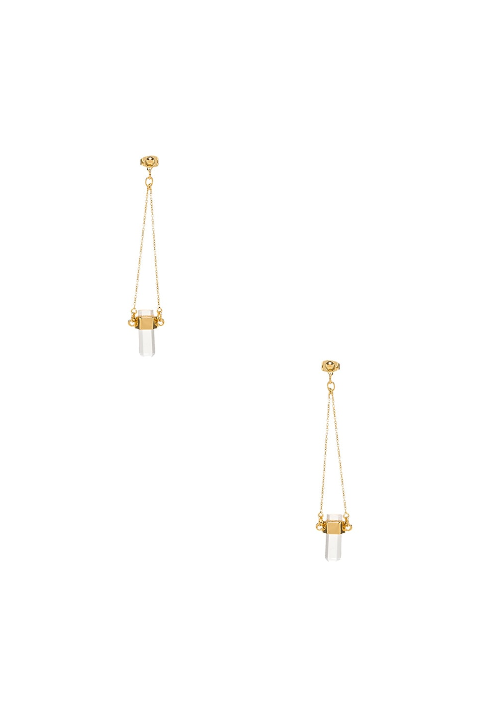 RACHEL ZOE Cut Crystal Drop Earrings in Crystal